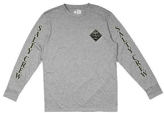 b3eec27e Salty Crew Tippet Camo Tech LS T-Shirt - Athletic Heather | Amazon.com