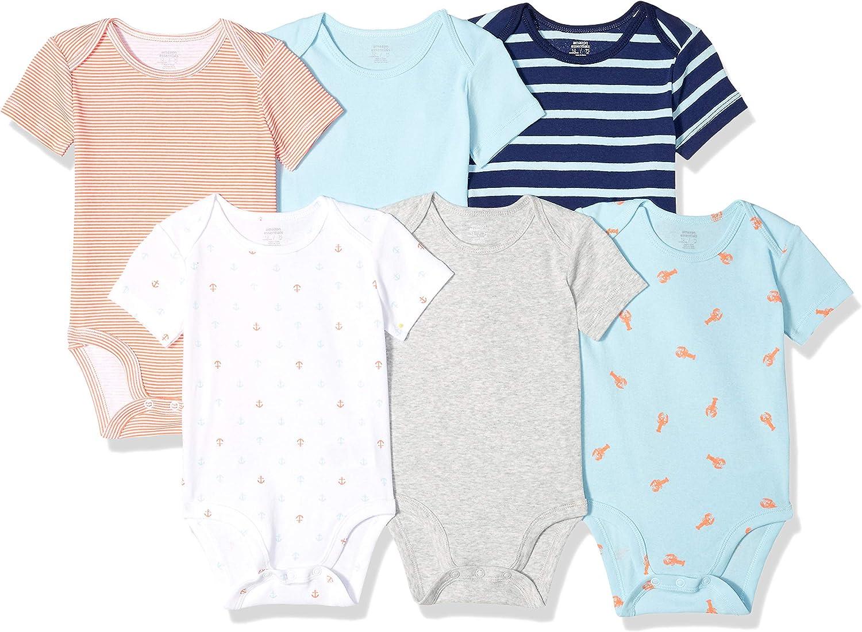 Essentials 6-pack Short-sleeve Bodysuit business-suit-dress-sets Bambino