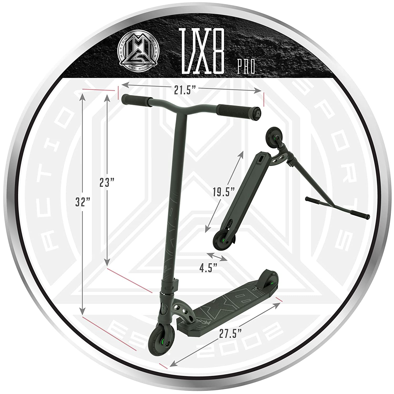 Amazon.com: Madd Gear MGP VX8 Freestyle Pro - Patinete ...