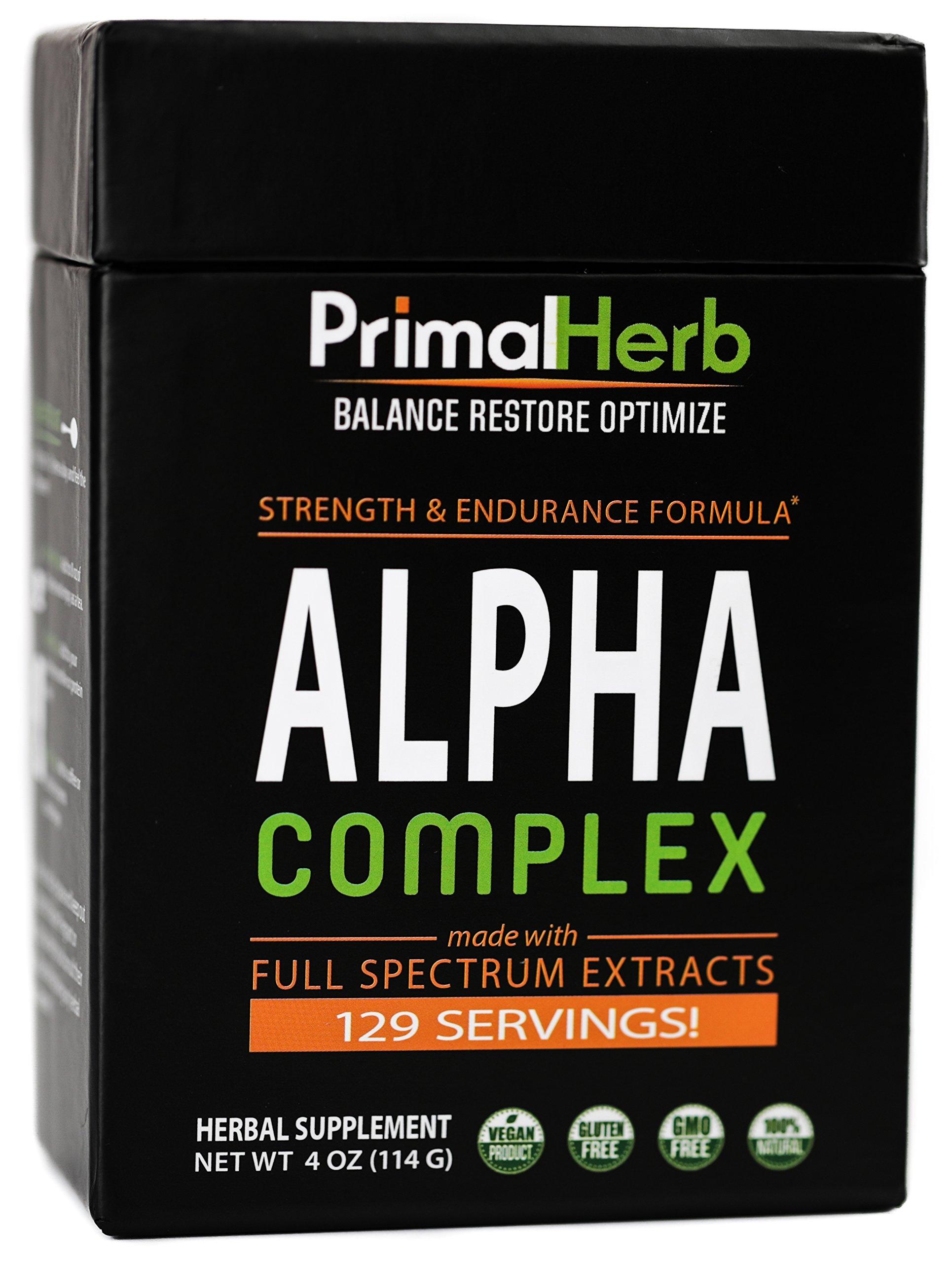 Alpha Complex – Strength & Performance - Testosterone Booster - 124 Servings - Long Jack Tongkat Ali 200:1 - Mucuna Pruriens - Icariin Extract - Ashwagandha - Male Enhancement