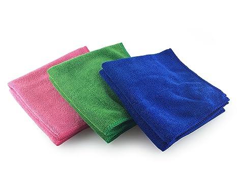 Viridis Products - Paquete de 6 de paños de microfibra multiusos - Completo con bolsa de lavado de malla GRATIS - Ideal para cocina, baño y aire libre ...