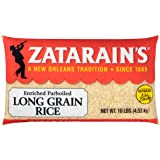 Zatarain's Long Grain White Rice, Cholesterol and Sodium Free, Fat Free, 10 lbs