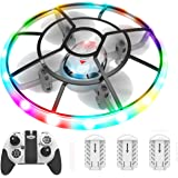 HASAKEE Q7 Mini Drone for Kids Beginners,RC Helicopter Quadcopter with Altitude Hold,Neno Light,3 Batteries and Remote Contro