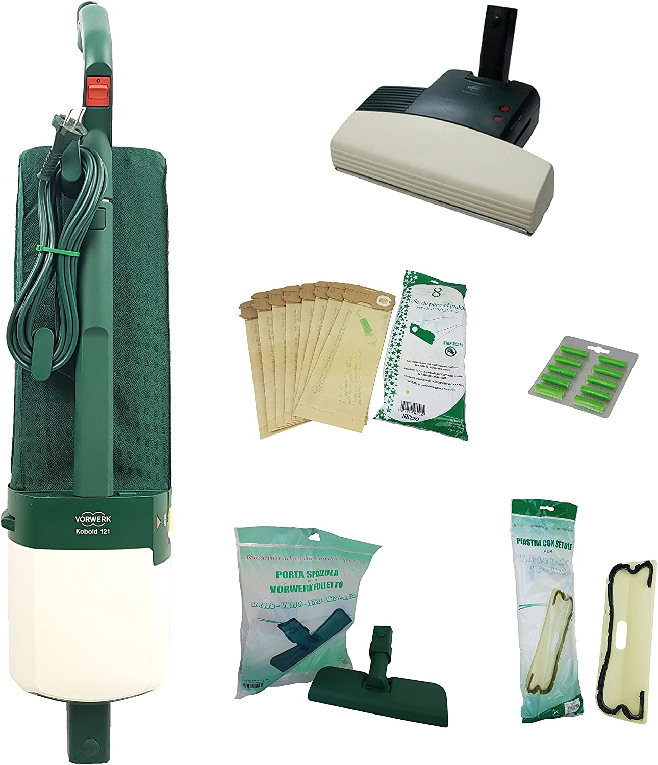 Vorwerk Folletto - Aspiradora VK121 reacondicionada - Cepillo ...