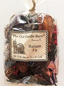Old Candle Barn Balsam Fir Potpourri 4 Cup Bag - Perfect Winter or Christmas Decoration or Bowl Filler - Well Scented