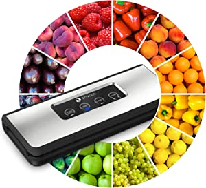 Vacuum Sealer Machine - Elegant Design - 37% More Powerful Food Vacuum Sealer Machine - Ultra Tight Sealing - Seal a Meal by BOVOLO - Sous Vide Packing System for Food Saver Bags - as Simple as ABC