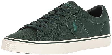 fd40387945df Polo Ralph Lauren Men s Sayer Sneaker College Green 7.5 ...