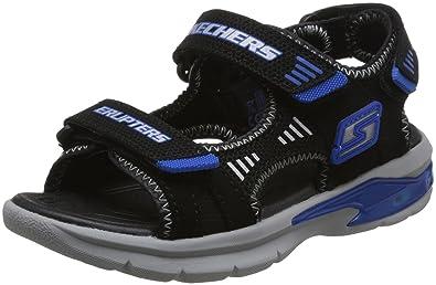 Skechers Jungen Sandale schwarz Erupters II Light up von