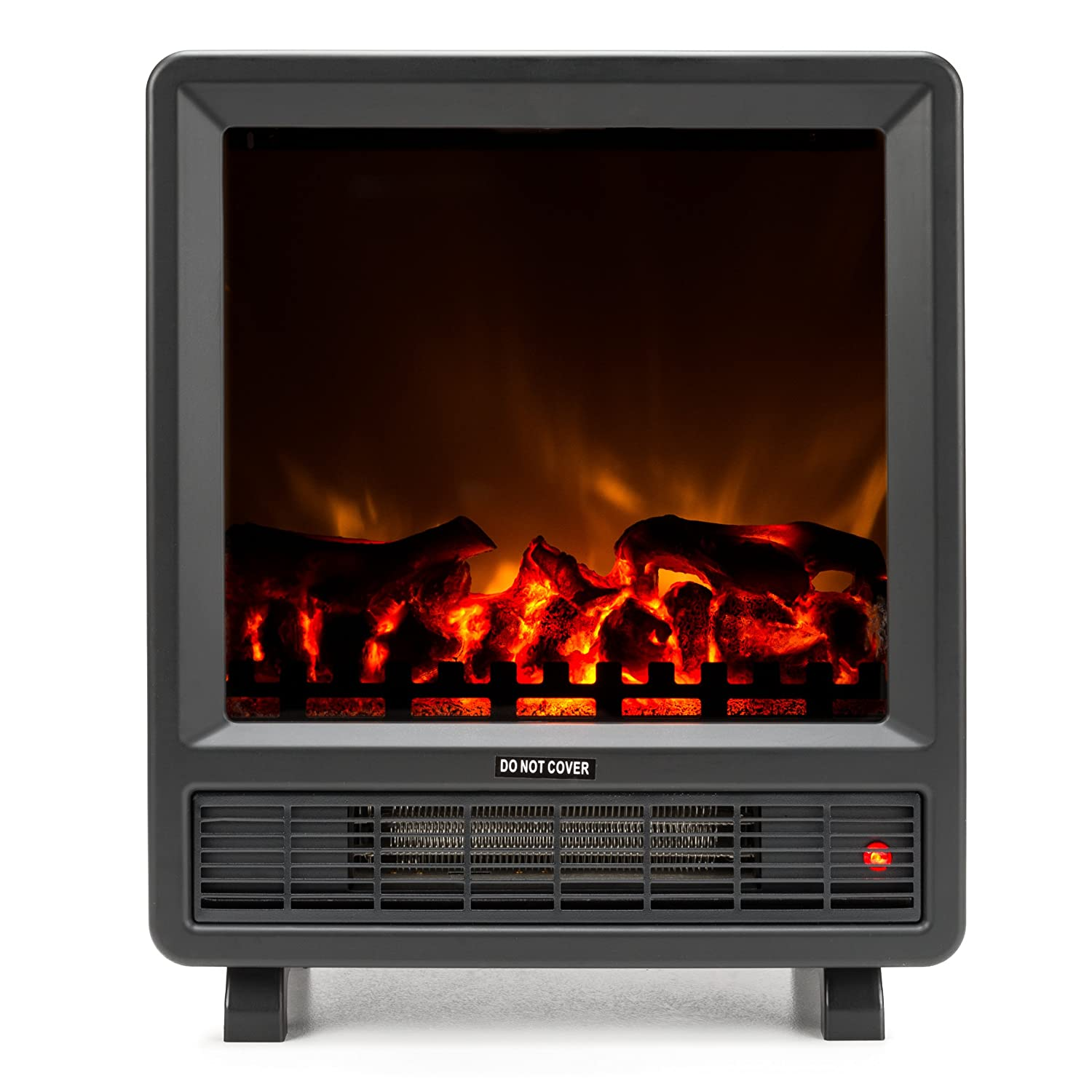 Amazon.com: Rochester Portable Electric Fireplace Stove by e-Flame USA (Matte Black) - 17.5-inches Tall Freestanding Fireplace Features Heater and Fan Settings with Realistic Brightly Burning Fire and Logs: Home & Kitchen