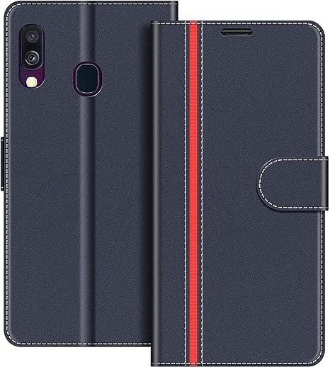 ChoosEU kompatibel mit Samsung Galaxy A40 2019 H/ülle Leder mit Silikon Handyh/ülle Muster Lederh/ülle kartenfach Schutzh/ülle Flip Case Sto/ßfest Standfunktion Handytasche Blau