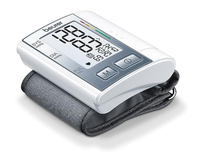 Beurer BC 40 Tensiómetro de Muñeca, Gris, Indicador OMS, Pantalla LCD, Apagado Automático, Memoria 60 Mediciones: Amazon.es: Salud y cuidado personal