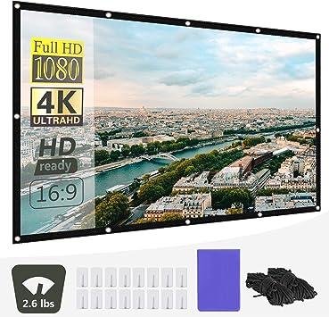Neewer 120 Pulgadas Pantalla Proyector 4K 3D HD 16: 9 Pantalla ...
