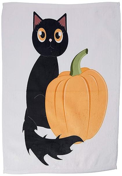 Zucca Halloween Gatto.3drose Gatto E Zucca Di Halloween Design Colore Bianco 15 X 55 9