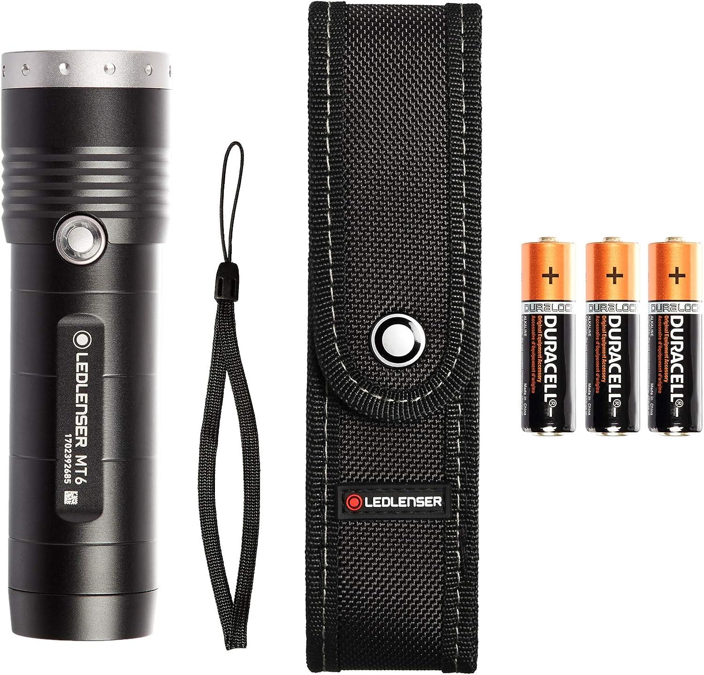 Ledllenser MT6, Linterna LED de bolsillo Unisex adulto, Negro ...