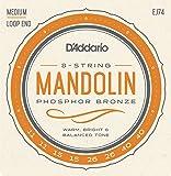 D'Addario ダダリオ マンドリン弦 フォスファーブロンズ Medium .011-.040 EJ74 【国内正規品】