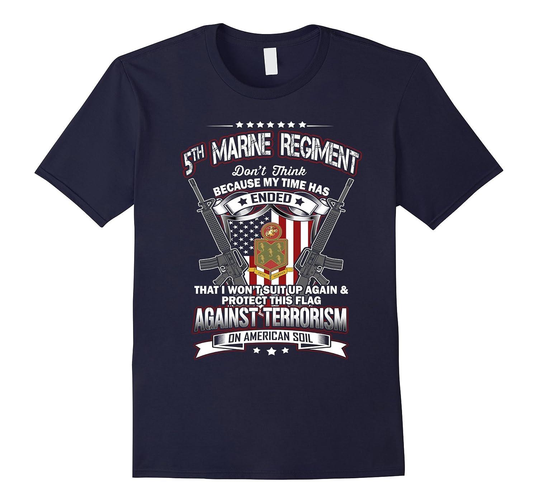 Vintage T-Shirt 5th Marine Regiment Veteran-Vaci
