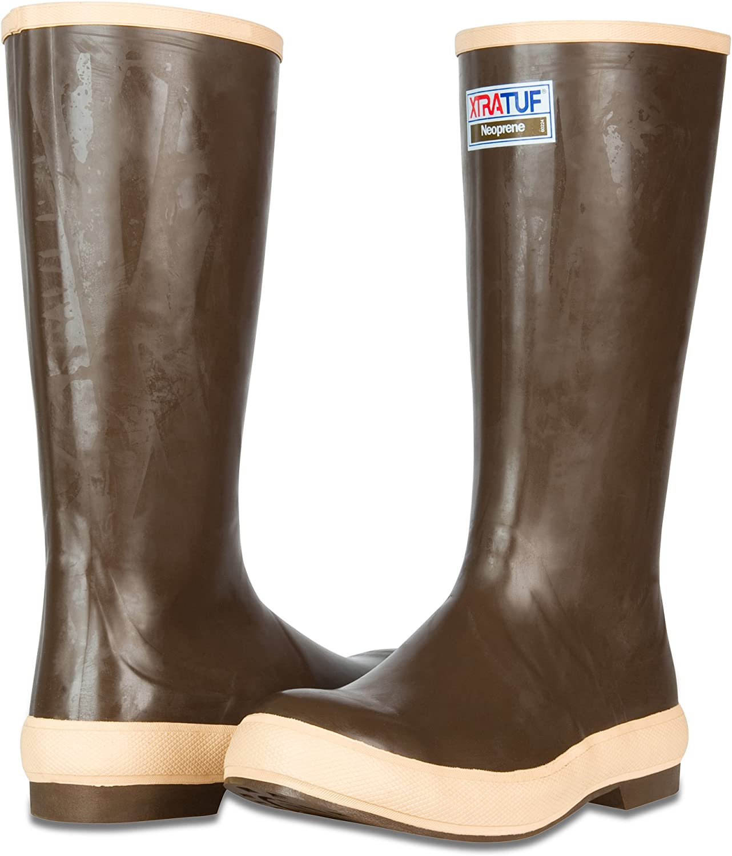 "22272G XTRATUF Legacy Series 15/"" Neoprene Boots Copper /& Tan"