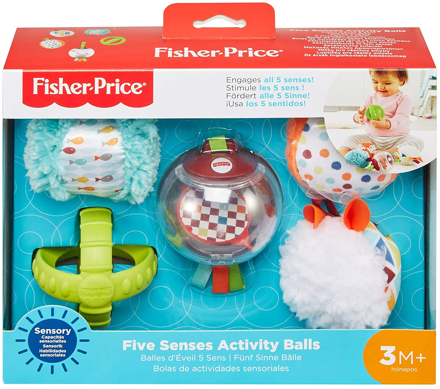 Fisher-Price - Bolitas Blandas Activity, 5 Bolas de Juguete ...