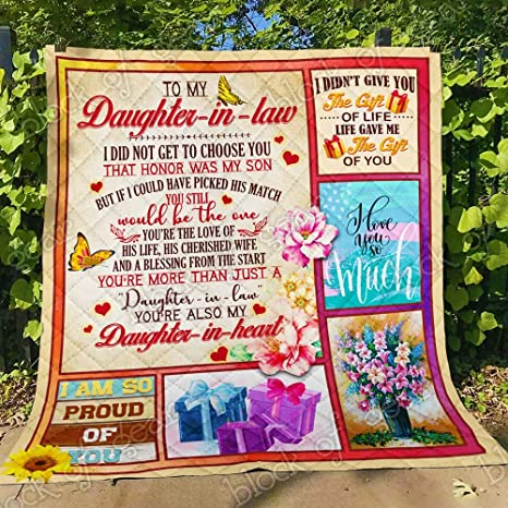 King All-Season Quilts Comforters with Reversible Cotton King//Queen//Twin Size Best Decorative Quilts-Unique Quilted for Gifts Law Quilt THB1077 in to My Daughter