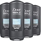 Dove Men + Care Body and Face Wash for Healthy and Strong Skin clean comfort with Micromoisture Technology 400 Ml, 4 Pack