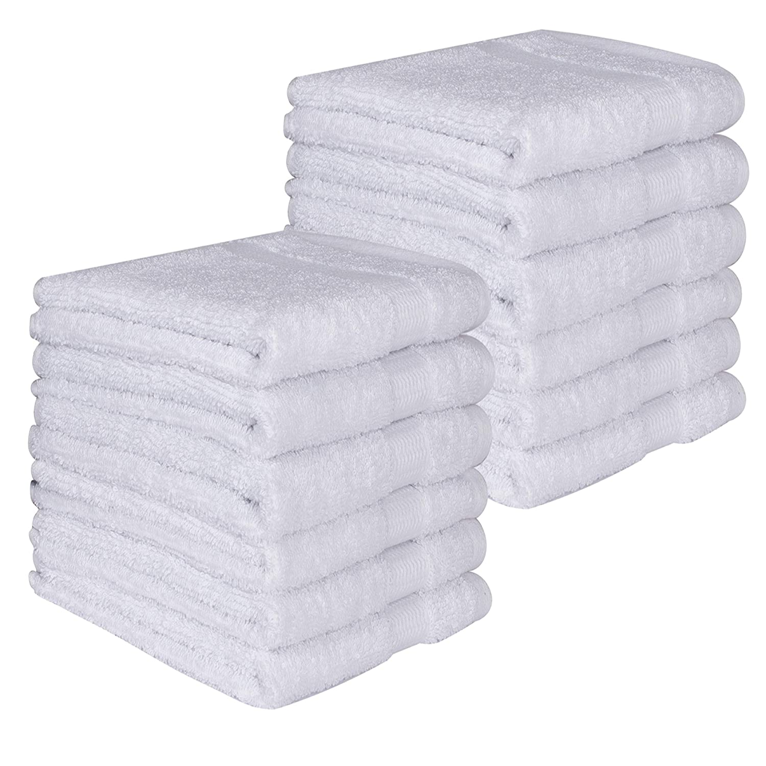 PAMCOTTON Genuine TURKISH COTTON 12 Piece of Eco-Friendly Washcloth Set Bosphorus Collection 13x13 inch Luxury Hotel/&Spa 600GSM WHITE Premium Quality Ultra Soft /& Absorbant