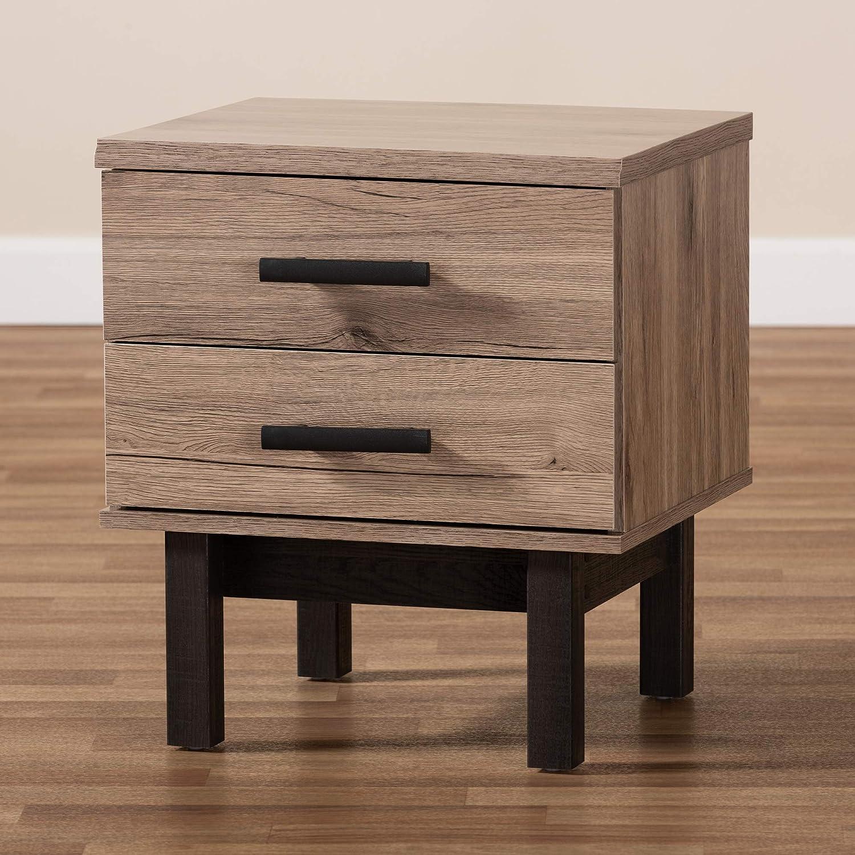 Baxton Studio 153-9178-AMZ End Tables One Size Oak//Black