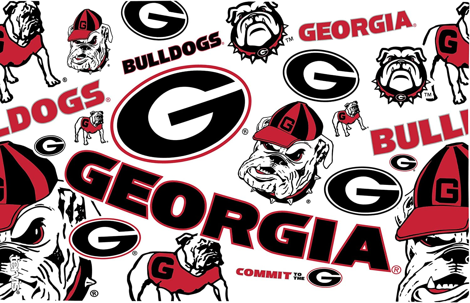 Tervis 1252205 NCAA Georgia Bulldogs All Over Tumbler With Lid 16 oz Clear