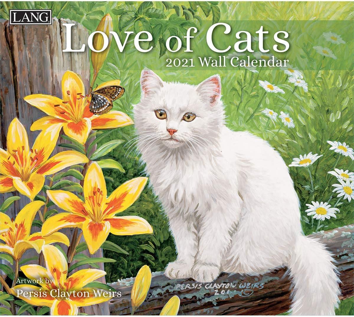 Amazon.: LANG Love of Cats 2021 Wall Calendar (21991001926