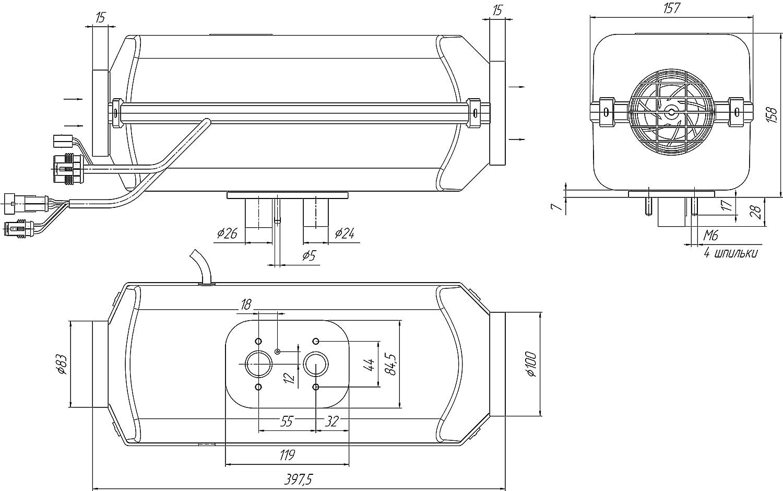 Diesel Air Heater 4kw 13600 Btu Hr 12volt Same As 12 Valve Mins Fuel Wiring Diagram Webastoairtroniceberspacherespar Truckcarcabin Boat Bus Camper Universal Kit