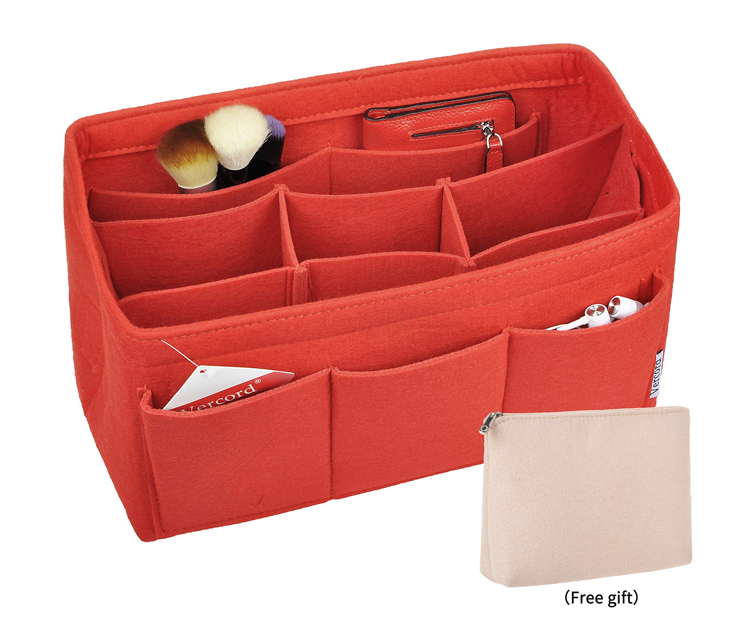 Vercord Felt Purse Handbag Pocketbook Tote Insert Organizer Bag Shaper In Bag Multi-Pockets SWSNB-012