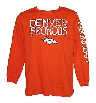 brand new 5327b 84eac Amazon.com : Denver Broncos Youth X-Large 14-16 Long Sleeve ...