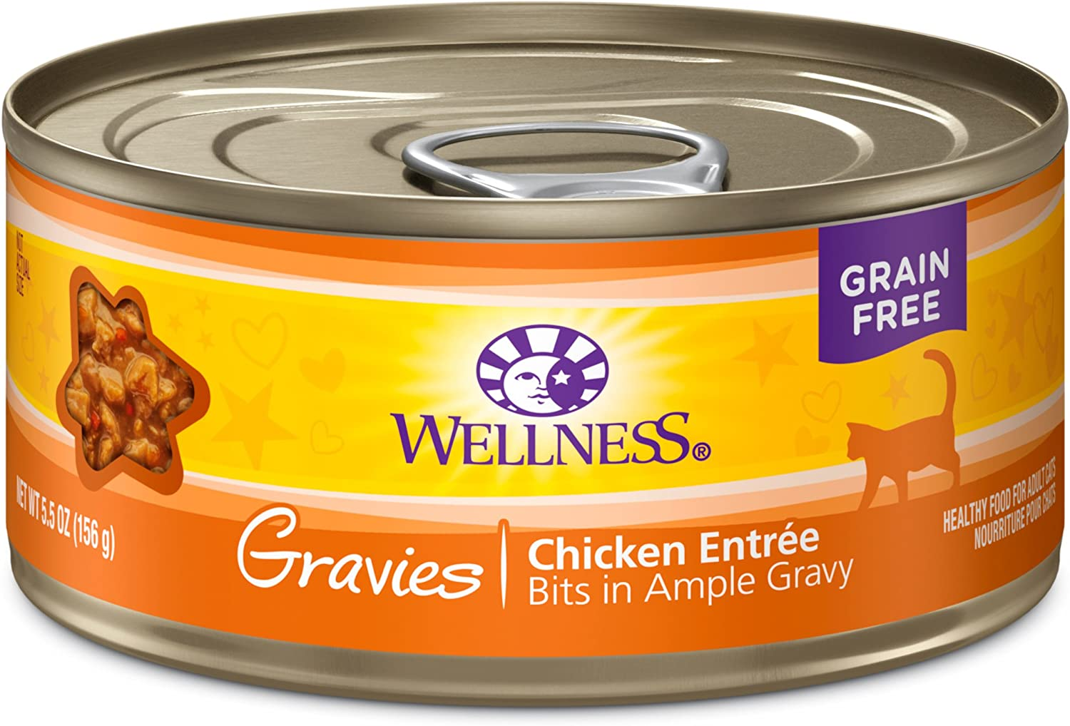 Wellness Complete Health Gravies Grain Free Canned Wet Cat Food (Pack of 12)