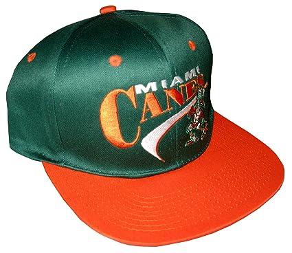 a1705900f142 Drew Pearson Men's Vintage Snapback Cap Nos Miami Hurricanes Canes ...