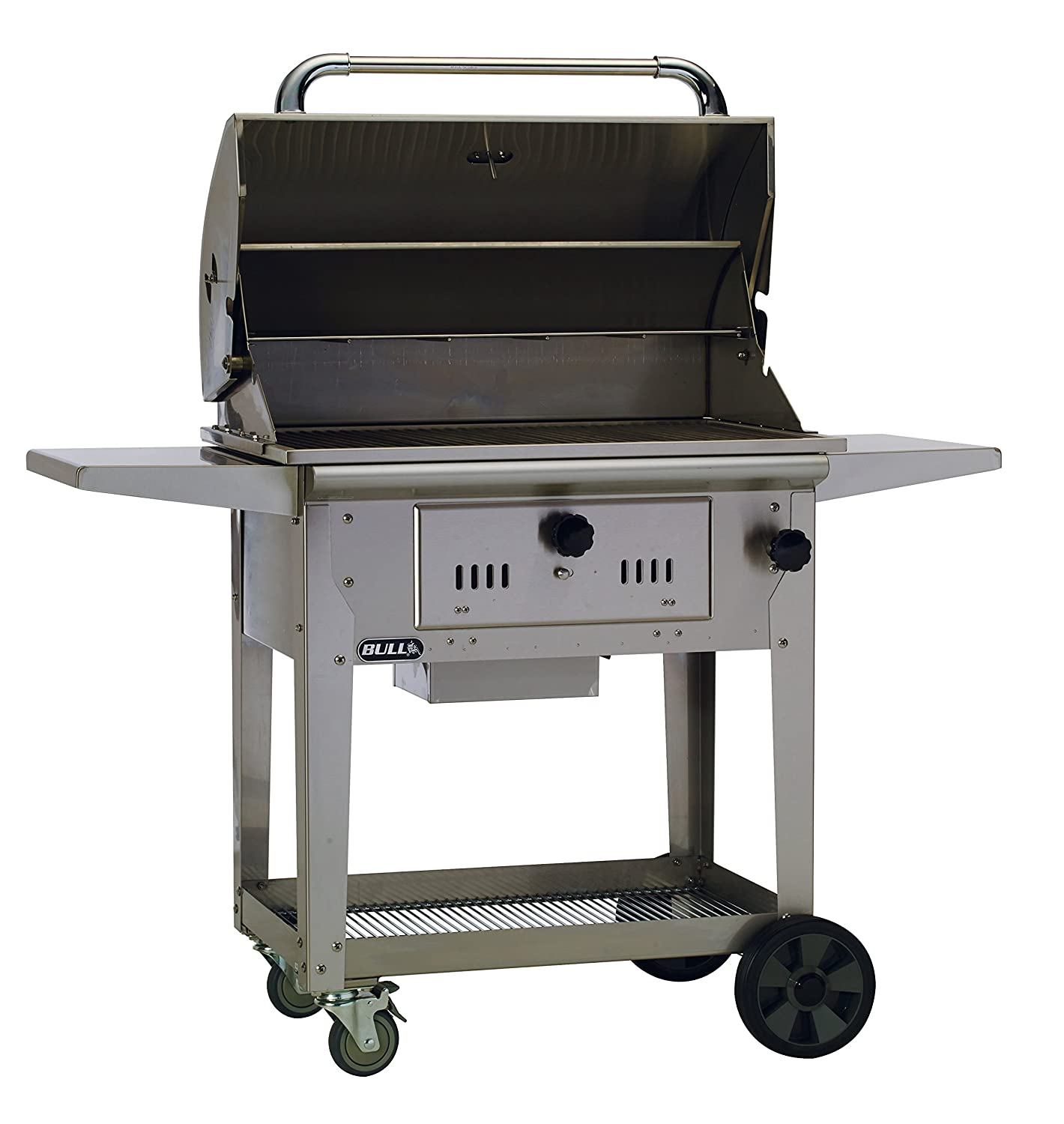 Amazon.com : Bull Outdoor Products 67531 Bison Charcoal Stainless Steel  Grill with Cart : Freestanding Grills : Garden & Outdoor