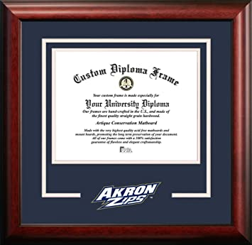 Amazon Com Campus Images Ncaa Akron Zips Spirit Diploma Frame 8 5 X 11 Inches Mahogany Multi Oh983sd Sports Fan Diploma Frames Sports Outdoors