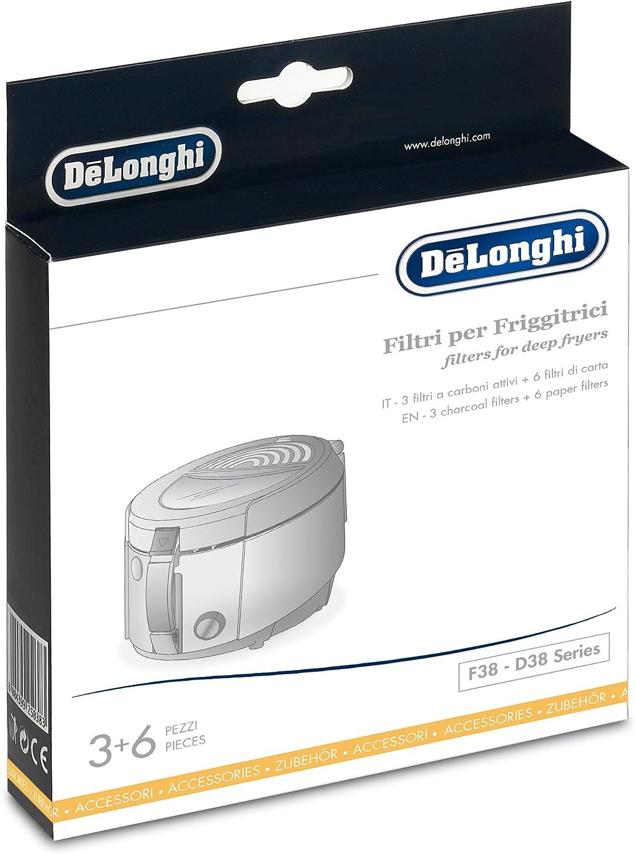 D38 DeLonghi Set de filtres pour friteuse pour Mod/èles F38
