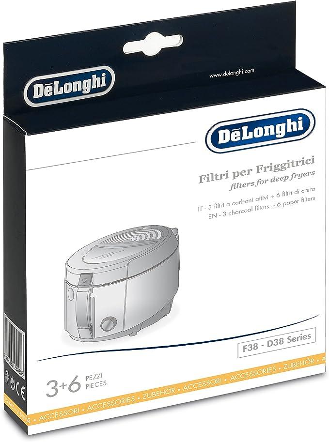 Delonghi FIL.F28 Kit de filtros substituibles para freidoras DeLonghi, carbón: Amazon.es: Hogar