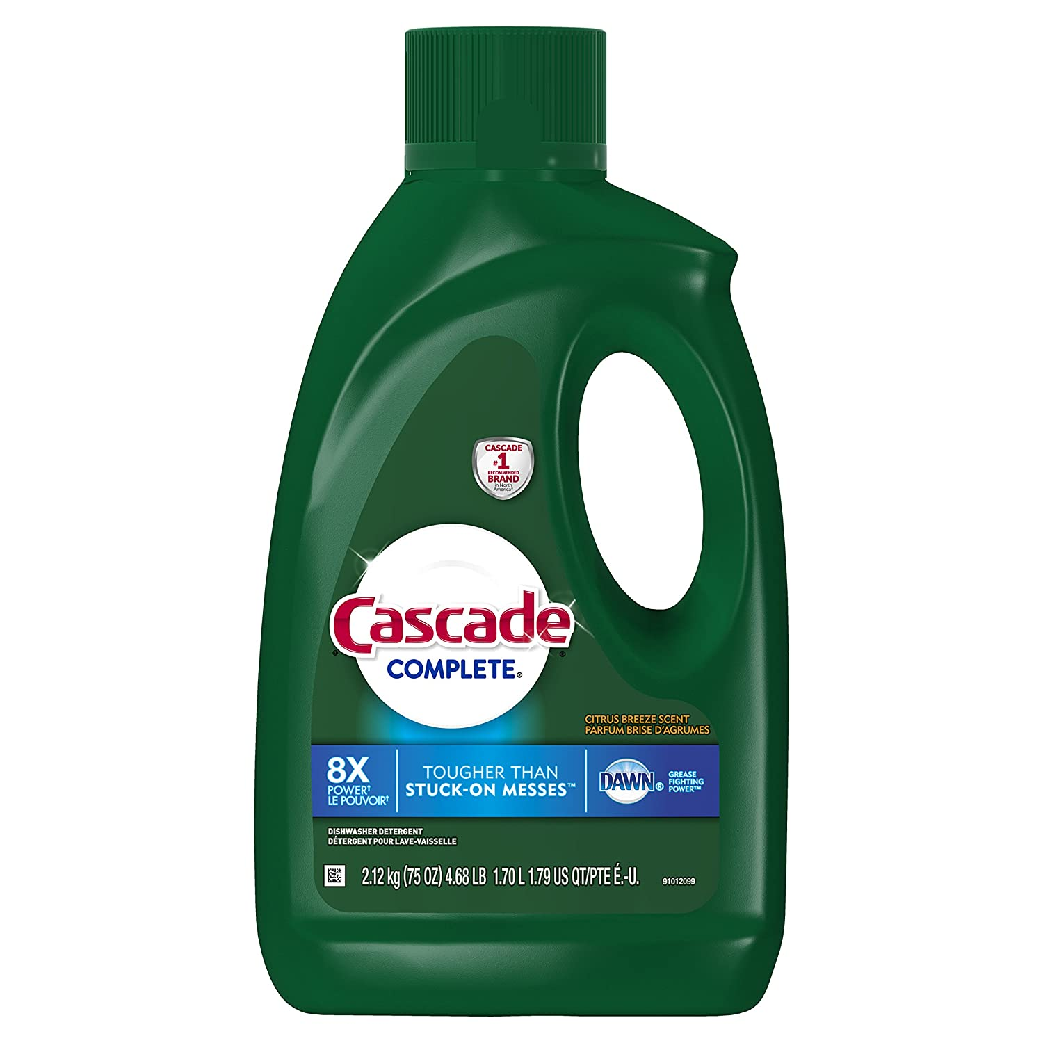 Cascade Complete Gel Dishwasher Detergent, Citrus Breeze, 75 Oz (Packaging May Vary): Prime Pantry
