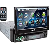 """New PYLE PLTS78DUB 7"""" TOUCH SCREEN CD/DVD/MP3 Car Player w/USB SD AUX Receiver (Renewed)"""
