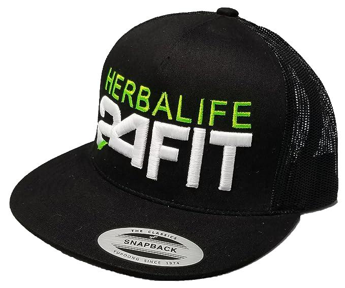 Amazon.com  Yupoong 3D Puff Herbalife 24FIT Hat Cap Snapback ... 53285c90f943