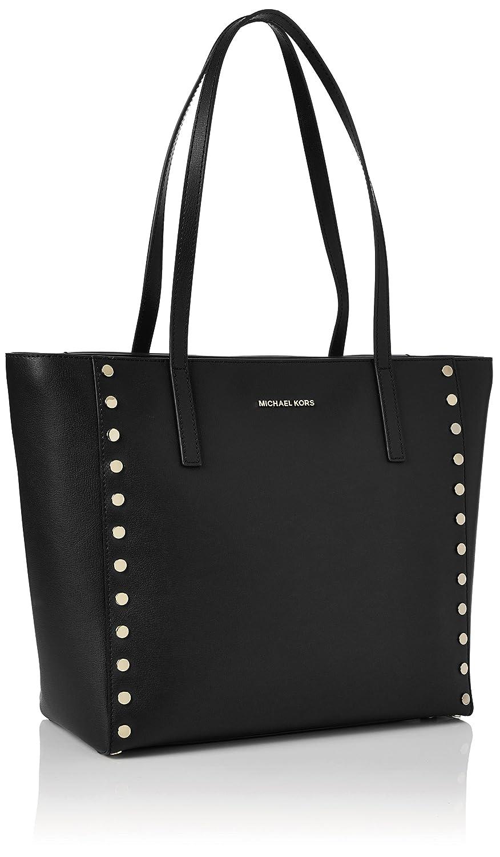 5876752d6884 Amazon.com: Michael Kors 30S7GR7T3L Womens Rivington Stud Satchel Black  (Black): Shoes