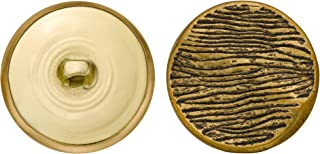 product image for C&C Metal Products 5067 Engraved Curve Metal Button, Size 45 Ligne, Antique Gold, 36-Pack