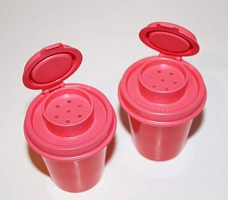 Amazoncom Tupperware Salt And Pepper Shakers Mini Midgets Set In