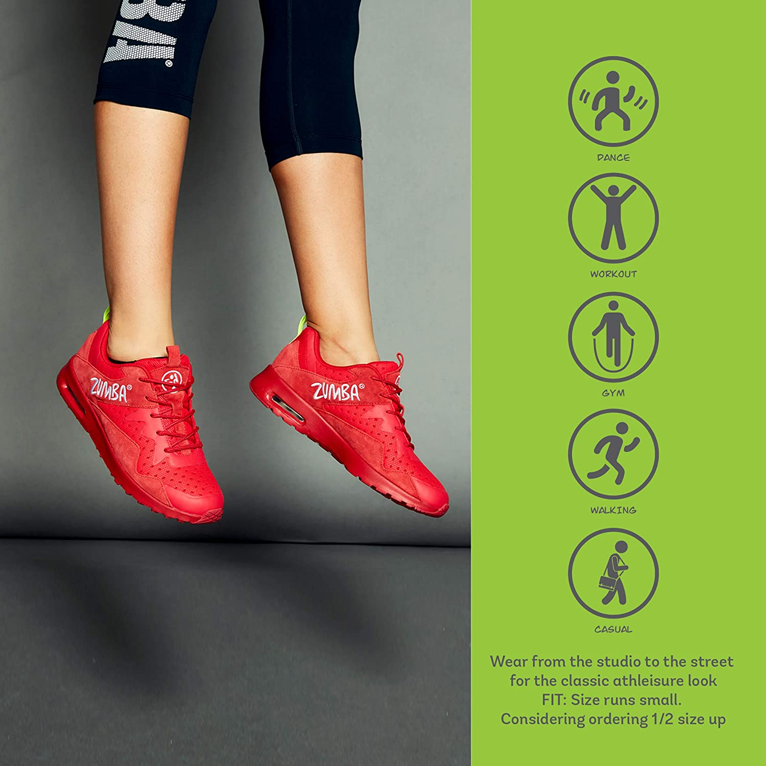 Zumba Athletic Air Classic Gym Fitness Sneakers Dance Workout Shoes for Women Red 1 jUtc7t