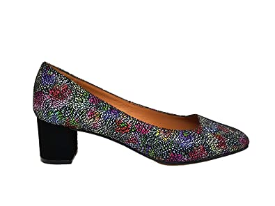 Gennia Lena - Damen Leder Schuhe 5 cm Absatz mit Karree Geschlossen