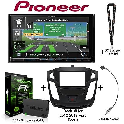 "Pioneer AVIC-W8400NEX 7"" Navigation AV Receiver, iDatalink Maestro KIT-FOC1 Dash"
