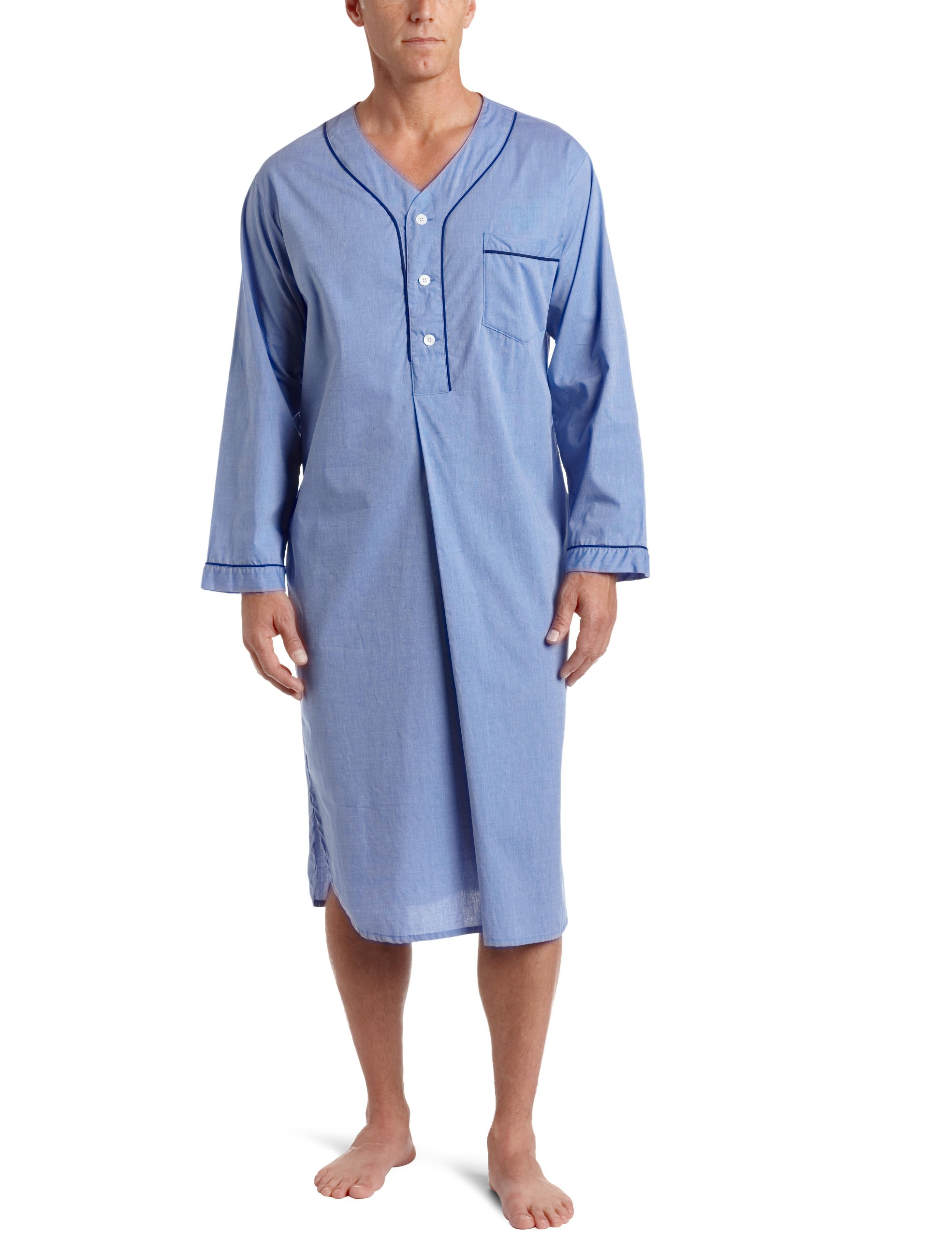 Majestic International Men's Nightshirt, Blue, Large/X-Large