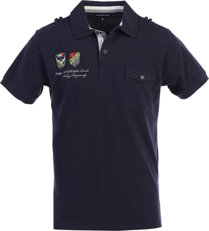 Gioberti Yacht Club Mens Pique Polo Shirt
