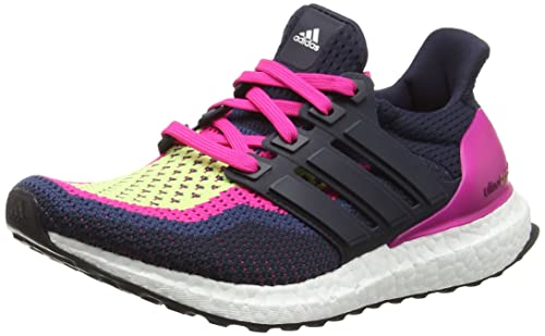 e1f3bd26781a Adidas Women s Ultra Boost W Dark Blue and Pink Running Shoes - 8 UK ...