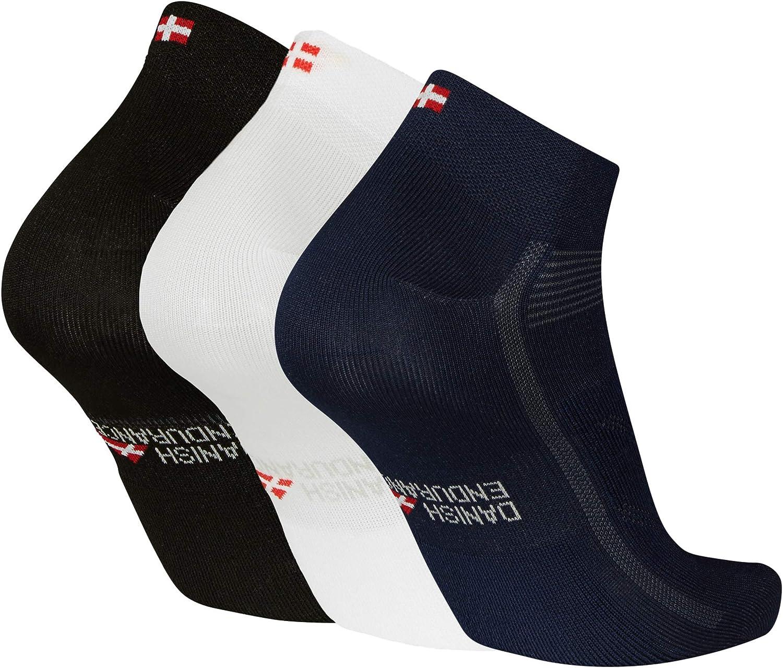 Azul Pack de 3 Pares Calcetines de Ciclismo de Corte Bajo Blanco para Hombres y Mujeres Ciclismo de Carretera Negro Calcetines Deportivos de Bicicleta Ciclismo de Monta/ña Transpirables y Acolchados Spinning